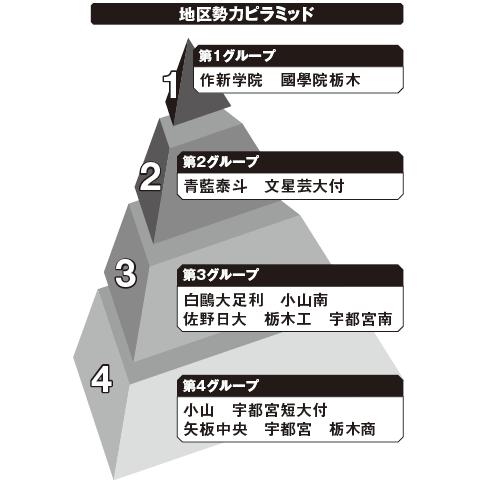 栃木 勢力ピラミッド