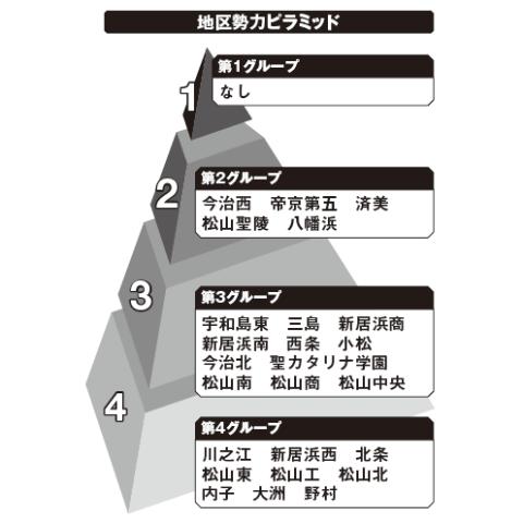 愛媛地区勢力ピラミッド
